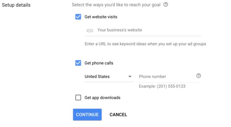 وارد کردن مشخصات تماس برای تبلیغات در گوگل