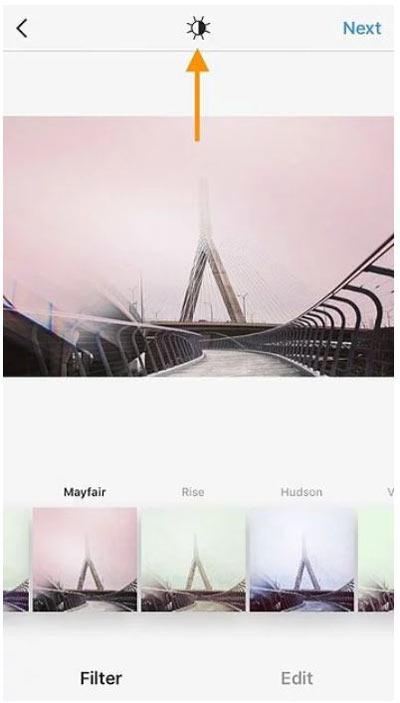 استفاده از فیلتر روشنایی در اینستاگرام