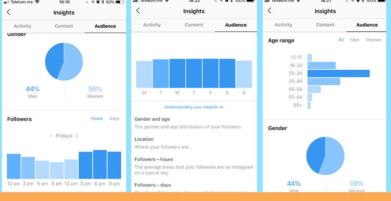 نمایش آمار وضعیت پست ها در بازاریابی با اینستاگرام